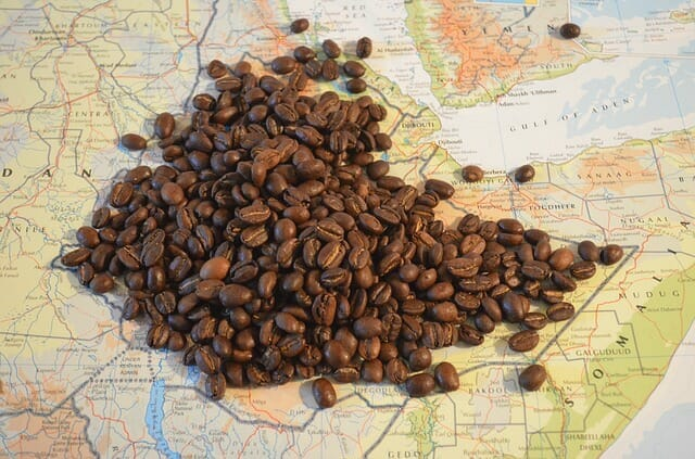 Ethiopian Coffee Map.