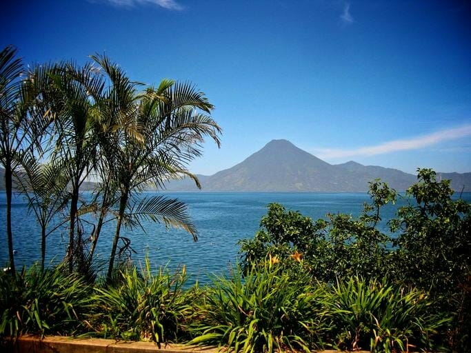 Guatemala Coffee Lake Volcano